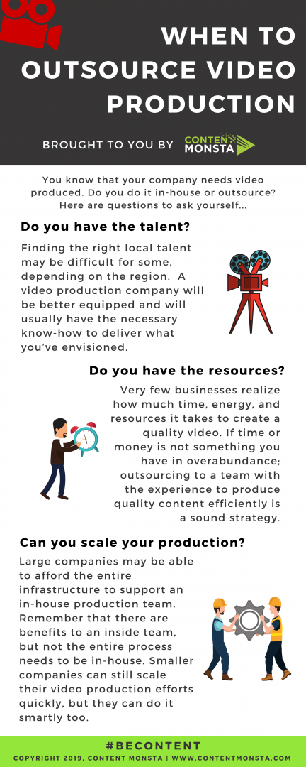 WHEN TO OUTSOURCE VIDEO PRODUCTION
