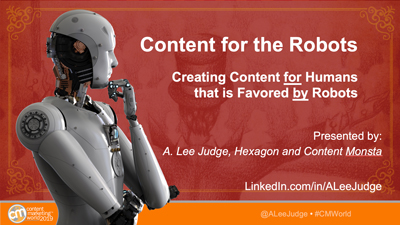 A. Lee Judge - Content Marketing World Presentation 2019