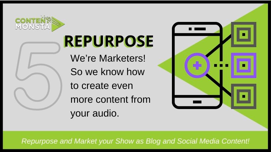 Repurpose a podcast