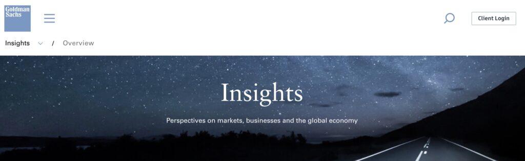 Goldman Sachs Insights
